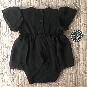 Dresses - BOGO! 🎉 NWT Baby Girls Black Bodysuit Dress